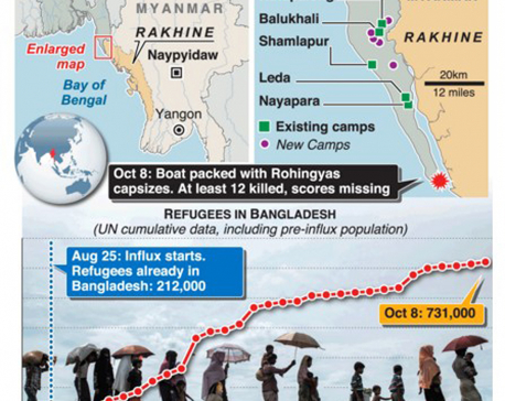 Infographics: More than half a million Rohingya have fled to Bangladesh