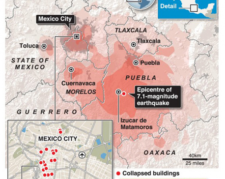 Infographics: Deadly Mexico earthquake