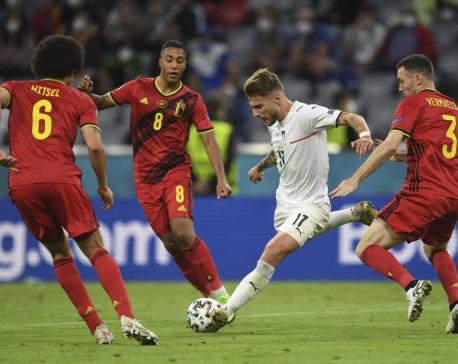 Italy beats Belgium 2-1, advances to Euro 2020 semifinals