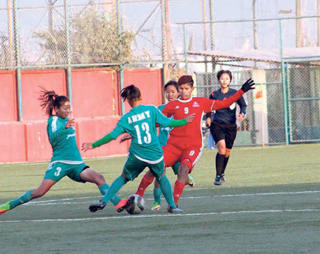 APF closer to women's football league title