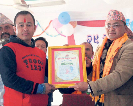 Journo Bhojraj Shrestha feted