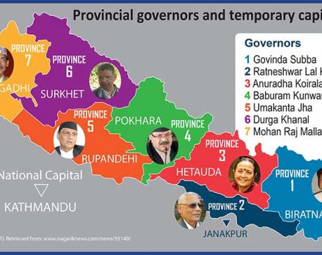 Govt names temporary capitals, governors