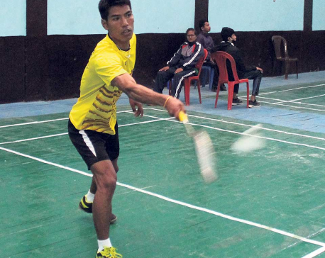 Nangsal into badminton quarters
