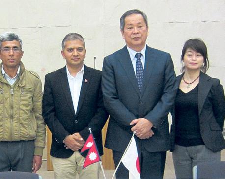 Japanese aid for rebuilding Sarswati Peace School in Gorkha