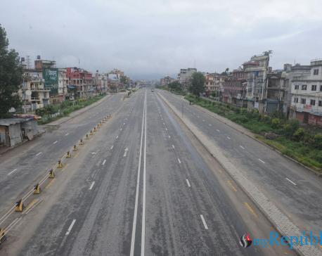 IN PICS: First day of week-long lockdown in Kathmandu Valley