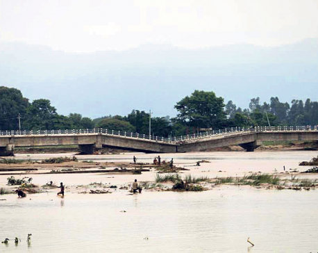 Newly-built bridge over Babai collapses