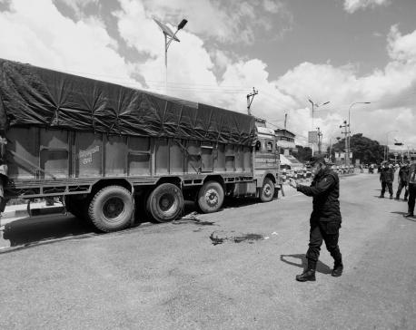Truck hits one to death at Kathmandu's Jadibuti Chowk