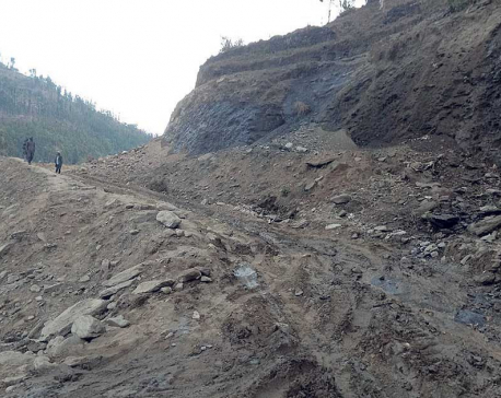 Jajarkot section of Mid-Hills Highway in sorry state