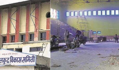 Wrestling covered hall still under-construction