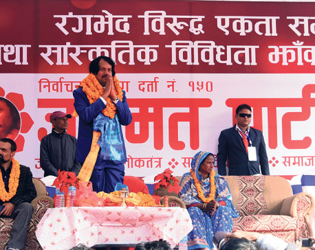 Raut's party holds mass rally in capital against 'discrimination'