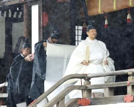 In ancient throne ritual, Japanese emperor vows to fulfil duty