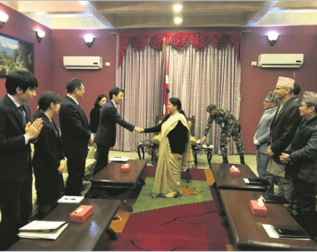 Japanese vice minister for foreign affairs in Nepal on two-day official visit