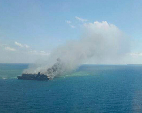 5 dead as Indonesian ferry catches fire in Java Sea