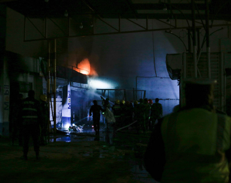 1 killed, 2 injured as fire breaks out at mechanical workshop in Tripureshwor