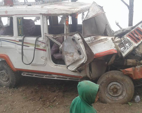 Five people killed in two different accidents in Palpa