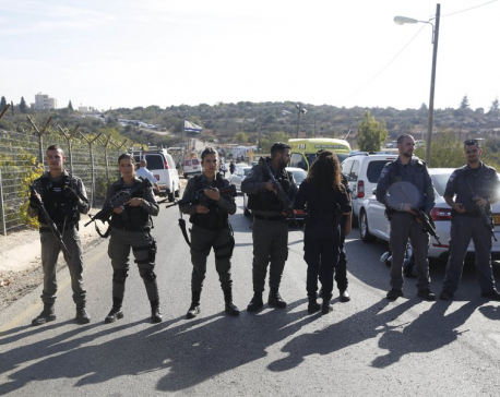 Palestinian kills 3 Israelis in settlement near Jerusalem