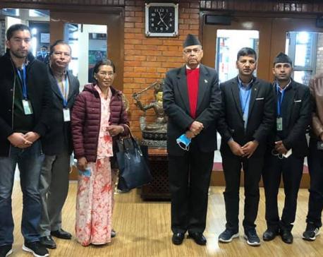 Senior leader of NCP's Dahal-Nepal faction Jhala Nath Khanal off to New Delhi