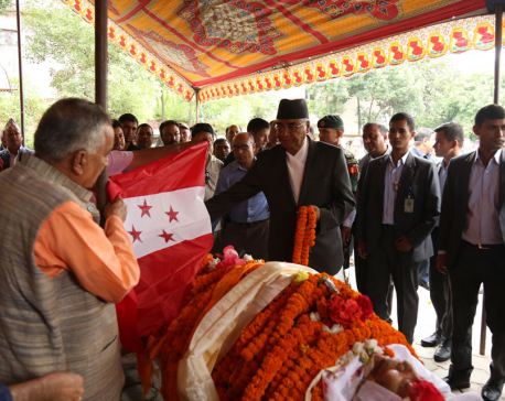 NC leaders including PM Deuba pay tribute to Joshi