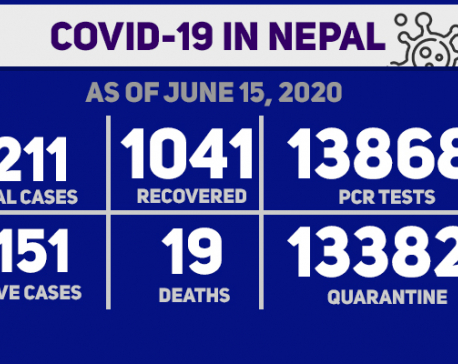 With 451 new cases , Nepal's COVID-19 tally jumps to 6211