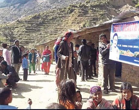 Free health camps in Karnali