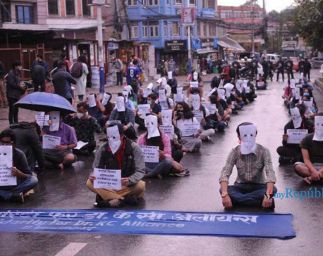 PHOTOS: Youths stage protests in solidarity with Dr Govinda KC