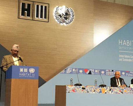 Minister KC addresses UN Conference on Housing and Sustainable Development