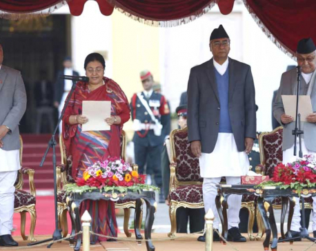 Oli sworn in as new PM of Nepal, forms 3-member cabinet