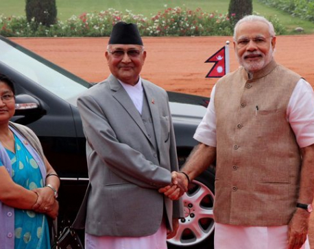 Oli extends verbal invitation to Indian PM Modi to visit Nepal