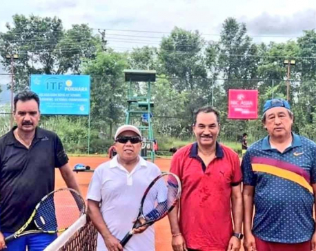 RPP Chair Thapa wins  the title of ITF Senior Tennis Tournament