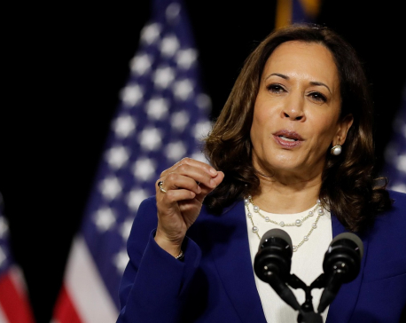 Democrat Harris rebukes Trump in historic campaign-trail debut with Biden