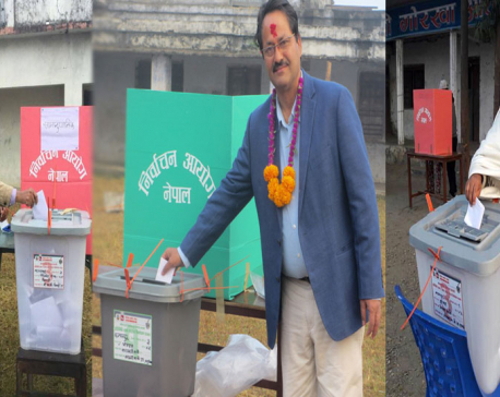 In pictures: candidates from Kanchanpur cast votes