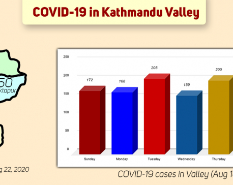 Kathmandu Valley reports highest single-day spike of 216 COVID-19 cases; 2,521 cases reported in just 22 days