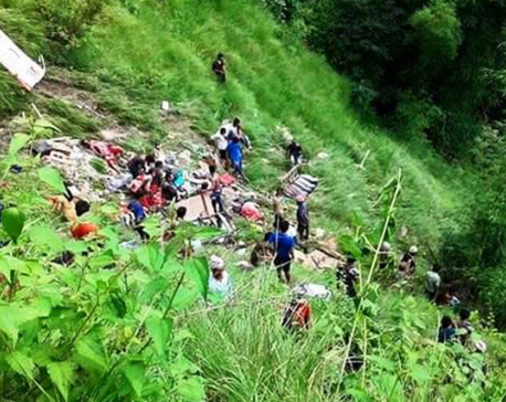 Death toll in Kavre bus mishap climbs to 31