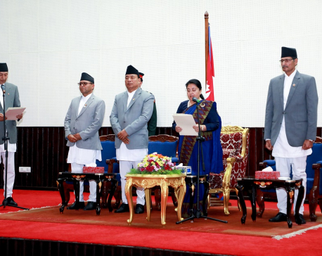 Newly appointed Finance Minister Khatiwada takes oath