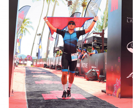 Alok Khatri becomes Nepal's first Ironman