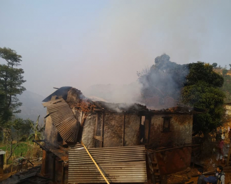 Property worth Rs 1.2 m destroyed as house catches fire in Khotang