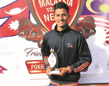 Mahato shines with ball in 172-run win