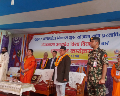 Prez Bhandari vows compensation for Koshi flood victims