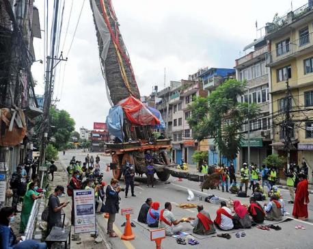 PHOTOS: Kshama Puja of Rato Machhindranath amid curfew in Patan