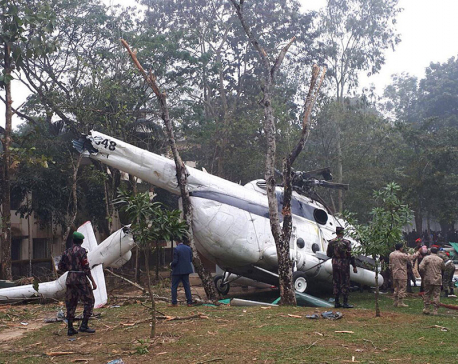 Helicopter with senior Kuwait officer crashes in Bangladesh