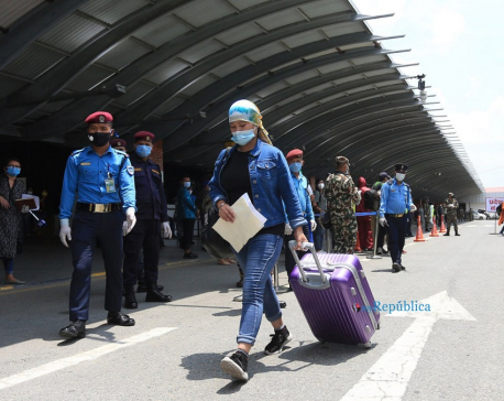299 Nepali women brought home from Kuwait(with photos)