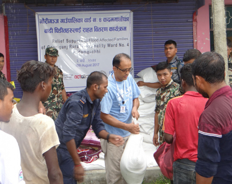 LWF Nepal provides relief to 568 flood-affected families