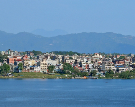 Lakeside, Pokhara's tourist business hub, is a silent town now