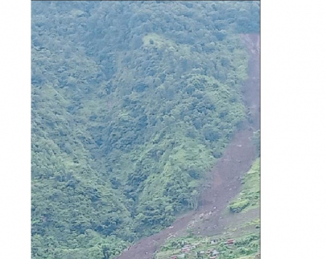 Rain-triggered landslides sweep away 21 houses in Lamjung