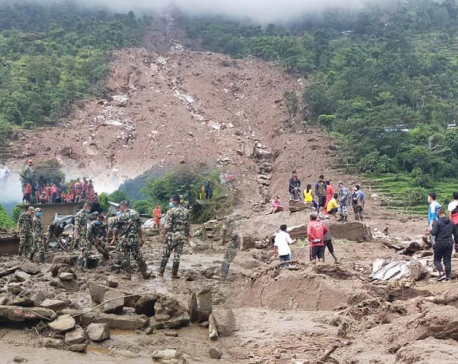 UPDATE: Death toll in Sindhupalchowk landslide climbs to nine, 22 still missing