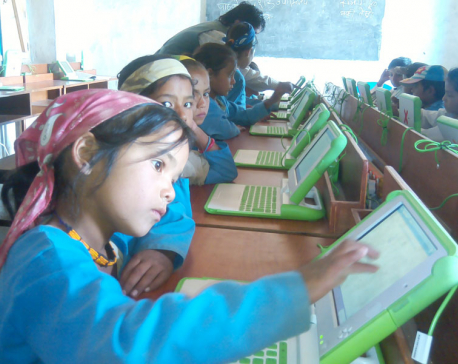 OLE Nepal helping schools connect through e-library