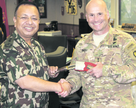 CoAS Chhetri holds meetings with senior US Army officials