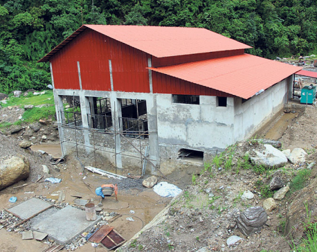 Floods and landslides displace 45 families, damage hydropower project