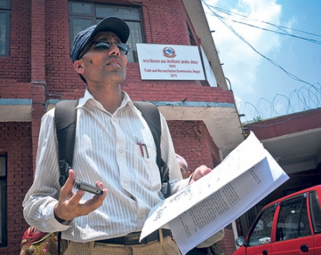 Family of murdered teacher Muktinath Adhikari files complaint at TRC