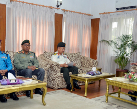 Four security chiefs  brief PM Dahal about latest security situation